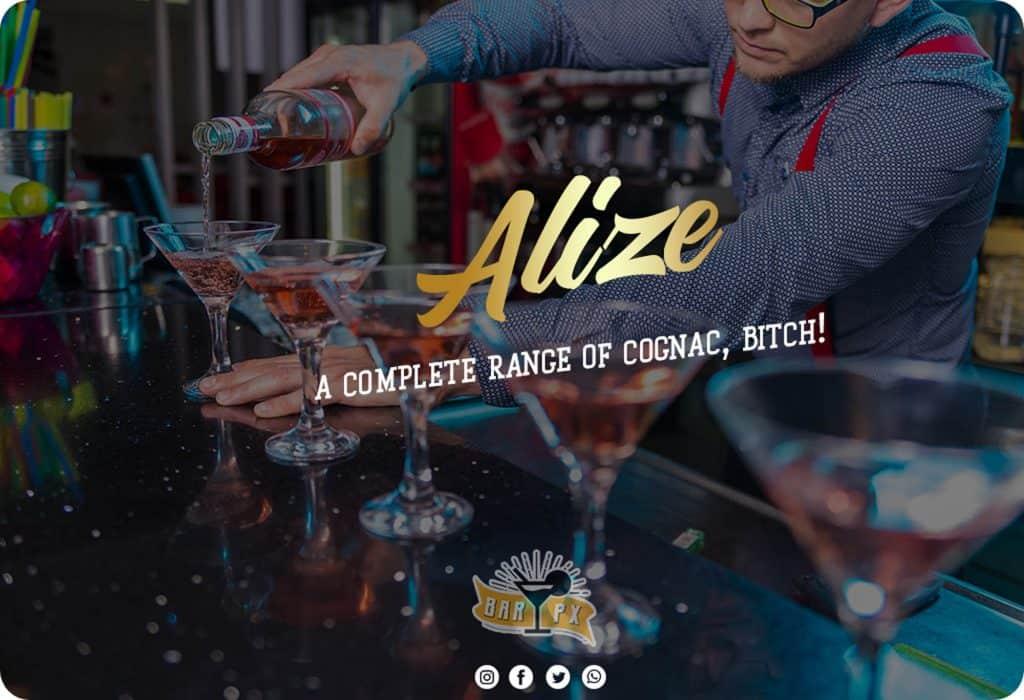 Alize alcohol - a complete cognac